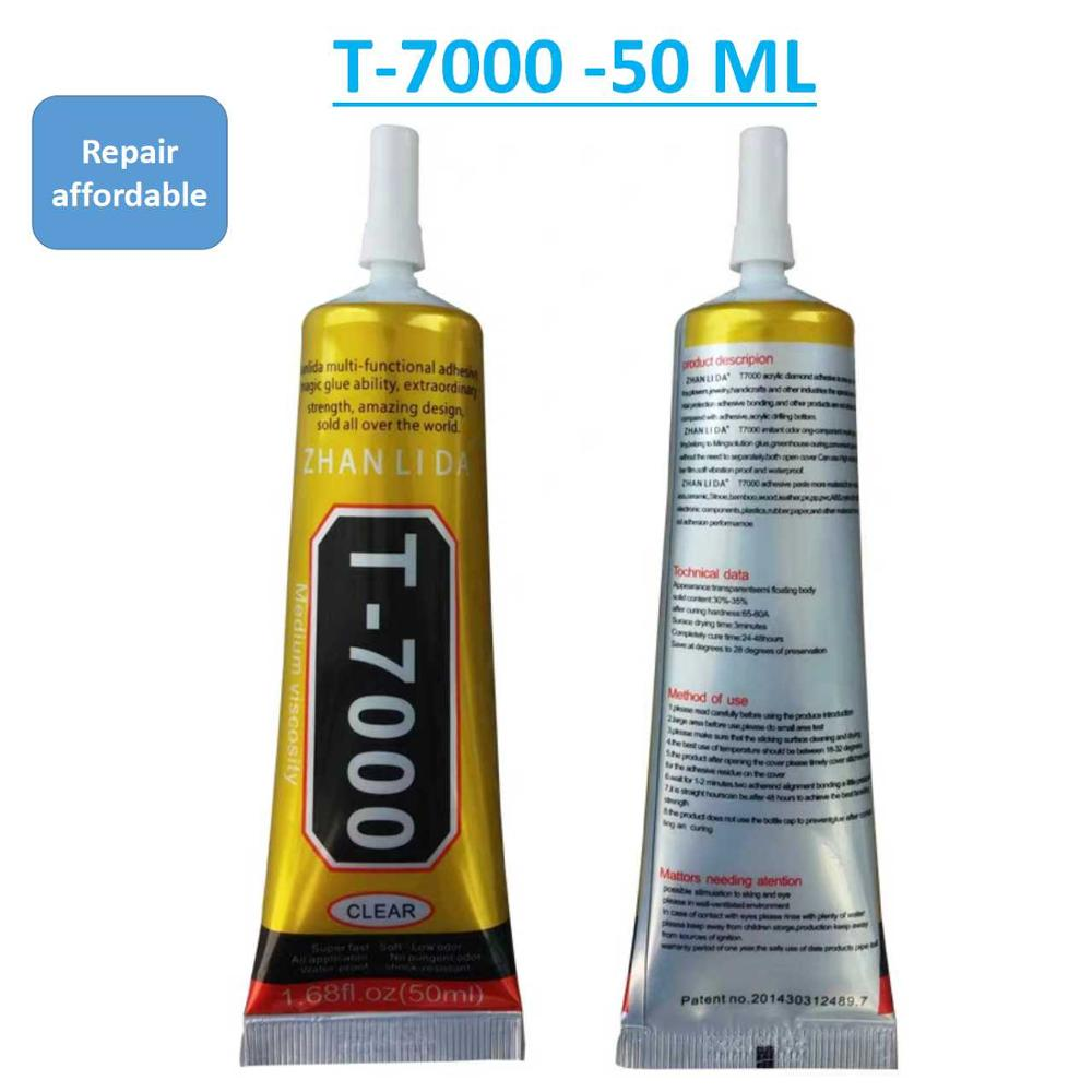 50ML T-7000 Black Glue Mobile Phone Frame Slant Screen Open Plastic Leakage Light Off The Convex Gap Special Screen Glue T7000