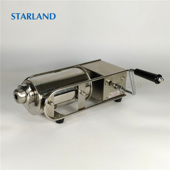 2L Horizontal Spain Churros Maker Stainless Steel Sausage Filling Machine Commercial Snack Churros Making Machine Sausage Maker free shipping doulbe head 220v electric churros maker machine