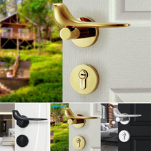 Bedroom Lock Door Interior Minimalist Modern 1pcs Golden-Bird High-Quality New