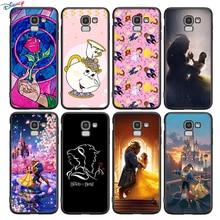Capa de silicone beleza e a besta para samsung galaxy j8 j7 duo j6 j5 prime j4 plus j3 j2 núcleo 2018 2017 2016 telefone caso