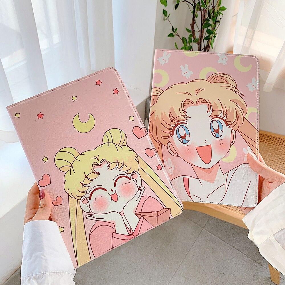 INS 9.7 10.2 10.5 11 pollici Cartoon Cute Sailor Moon custodia morbida per Tablet per iPad Air 1 2 3 Mini 4 5 Pro 2017 2018 2019 2020 Cover