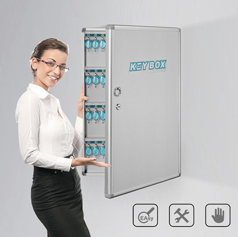 Wall Mounted Key Box Aluminum Alloy ABS Dormitory Rental House Company Security Protection Keys Safe Deposit Management Cabinet