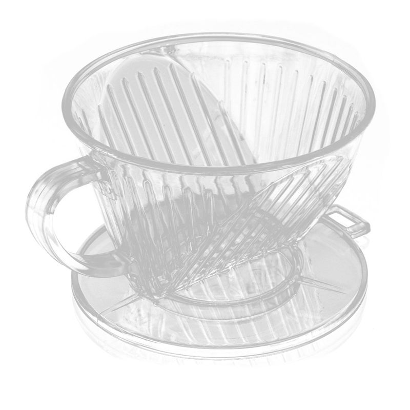 Clear Coffee Filter Cup Cone Maker Brewer Holder Plastic Reusable