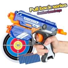 New Manual Soft Bullet Gun Suit for Nerf Soft bullets Toy Pistol Gun Long Range Dart Blaster Kids Toys Gift
