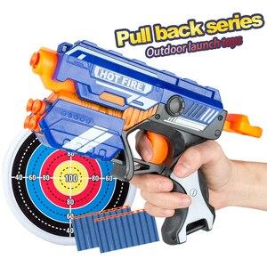 New Manual Soft Bullet Gun Suit for Nerf Soft bullets Toy Pistol Gun Long Range Dart Blaster Kids Toys Gift(China)
