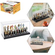 20pcs Mixed Different All Standing O Scale 1:43 Painted Figures Passengers Home Decor Gift Acrylic Display Case P4309T