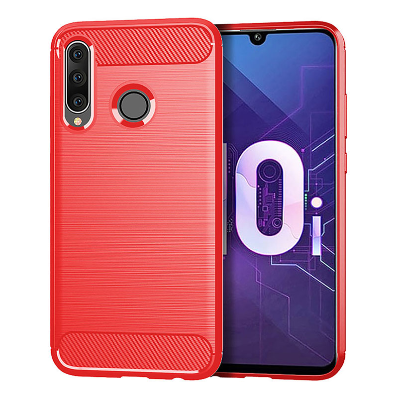 Image 2 - Luxury Case Silicon TPU Carbon Fiber Soft Silicone for Huawei P30 P20 Lite Nova 3 3i Y5 Y6 2018 Mate 20 Lite Honor 8X Cover Case-in Half-wrapped Cases from Cellphones & Telecommunications