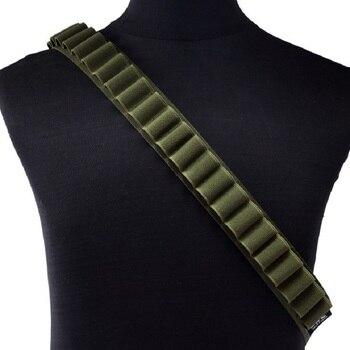 Tactical 26 50 Rounds Gun Bandoliers Belt Cartridge Shoulder Shell Belt 12 Gauge Ammo Holder Carrier Airsoft Hunting Accessories 6