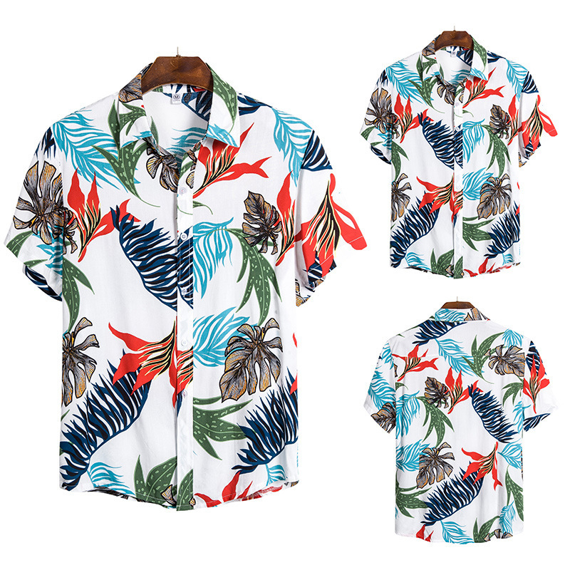 European Code Men's Wear Short Sleeve Shirt Shivering Man Short Sleeve Shirt Cs143