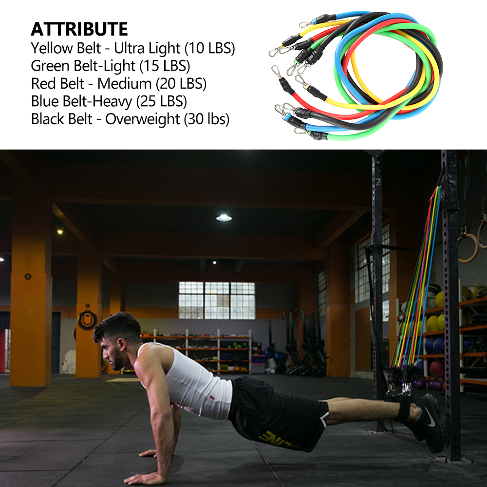 11-13pcs Fitness Resistance Bands 4