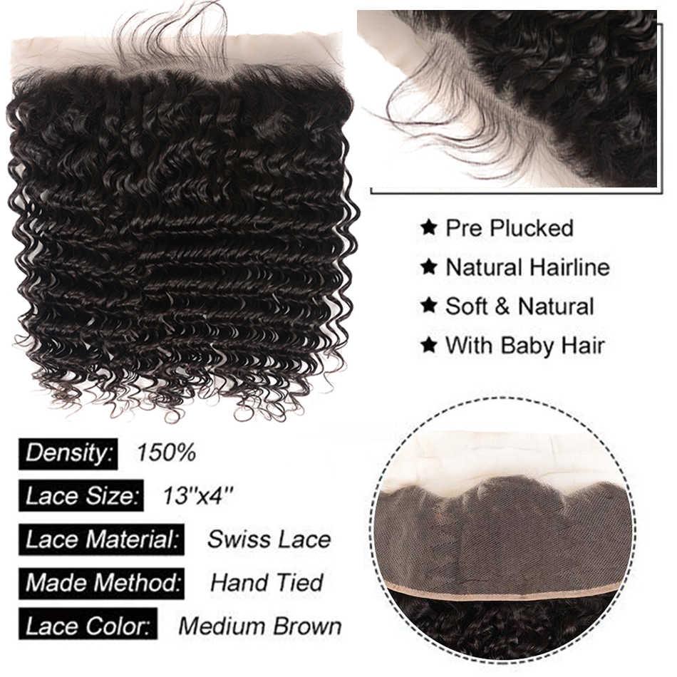 Бразильские волнистые пряди 10a с фронтальным 100% Реми человеческие волосы 3/4 пряди с фронтальным Shuangya волосы с пряди
