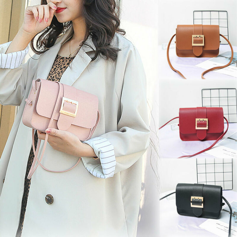 Various Colors   Leather Crossbody Bags For Women Travel Handbag Fashion Simple Shoulder Messenger Bag Ladies Cross Body Bag