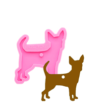 Shiny 6 breeds of dogs keychains Silicone Molds DIY Jewelry keychain mould Epoxy Resin Mold Custom DY0128