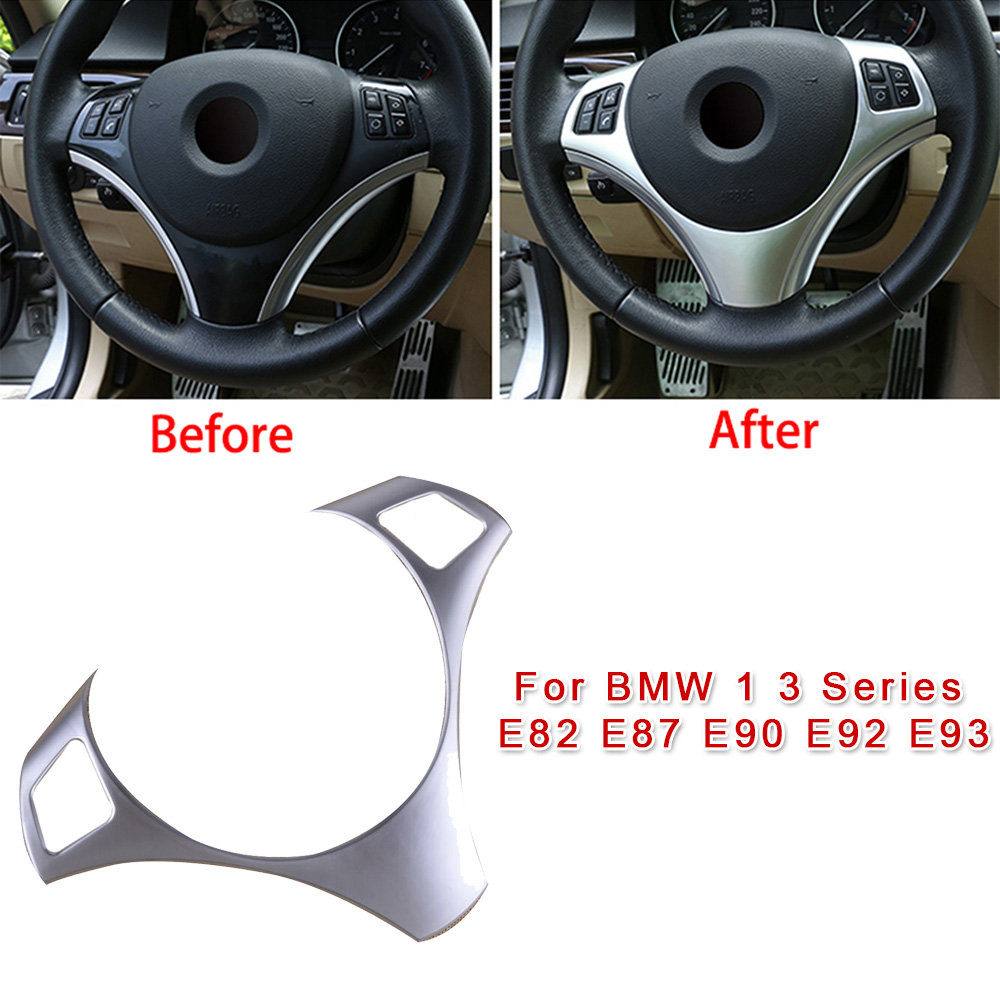 28.1x20cm Steering Wheel Button Frame Cover Trim For BMW 1 3 Series E82 E87 E90 E92 E93 Car Styling Sticker Accessories image
