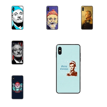 Choose Famous Actor Bill Murray Black Soft TPU Print Cover Case For Galaxy Note 4 8 9 10 20 Plus Pro J6 J7 J8 M30s M80s Ultra image