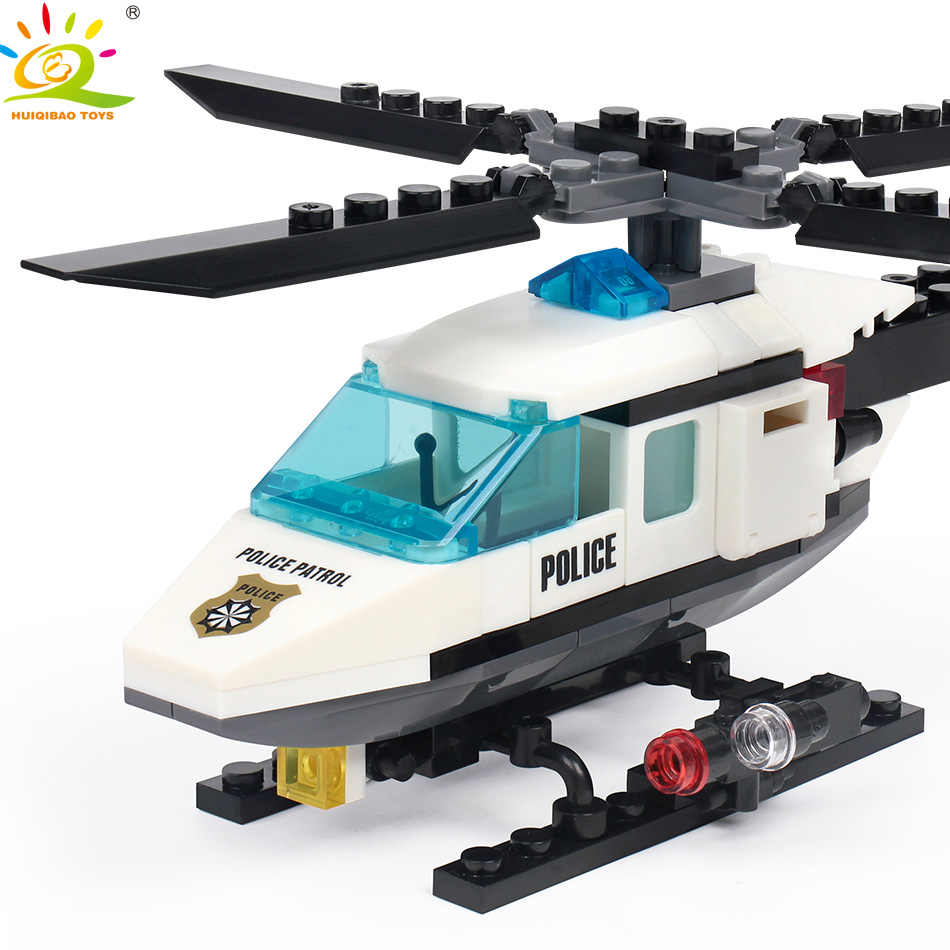 Huiqibao Toys 102pcs Police Air Force Plane Building Blocks For Children City Helicopter Bricks Policeman Figures Set Lego Police Helicopter Lego Policecompatible Lego Aliexpress