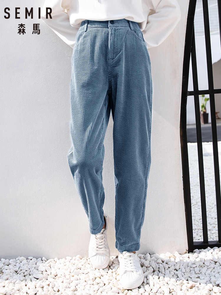 Semir Pantalones Informales De Pana Para Mujer Pantalones Y Pantalones Capri Aliexpress