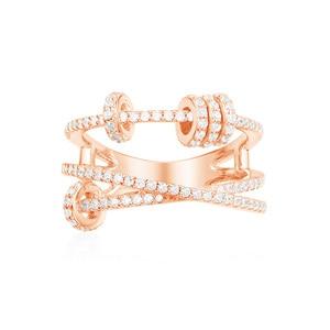 Image 5 - KAKANY הזוהר מסוגנן העתק של גבוהה איכות מקורי קסמי, לשלושה גבוהה סוף טבעת עם טבעת להחליק, עבור נשים של מונקו תכשיטים