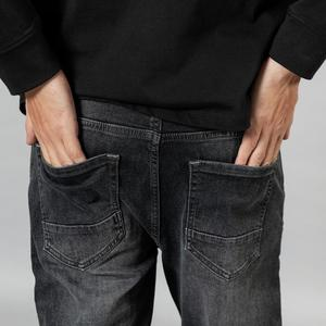 Image 4 - SIMWOOD 2020 spring winter new washed black jeans men little elastic denim trousers plus size brand clothing SI980581