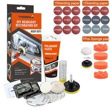 إصلاح المصابيح الأمامية للسيارة ، تلميع ، إزالة الخدوش ، طلاء تجديد ، إصلاح ، طقم شمع إصلاح ضوء السيارة الكيميائي