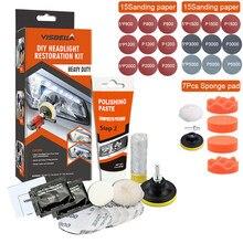Faróis do carro reparação de polimento restauração scratch remover refurbish revestimento oxidação reparação química luz do carro reparação cera kits