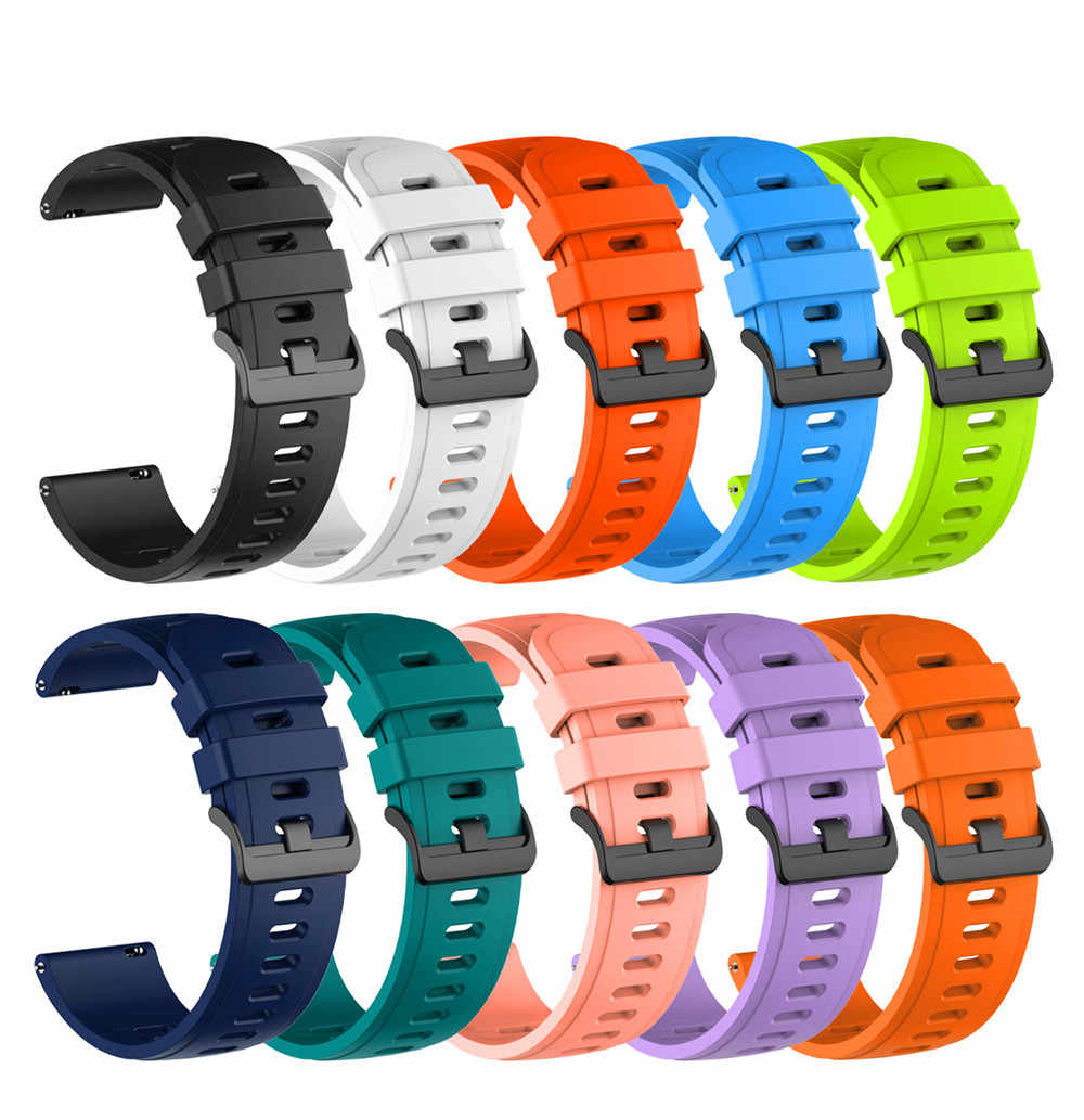 Bracelet Sport en Silicone, 22mm, pour montre, Huawei GT 2, Samsung Galaxy Watch, 46mm, Gear S3, Huami GTR 47mm