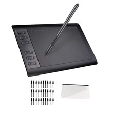 Image Drawing Tablet, 8192 Levels Pen Stylus with 30 Nibs Drawing Tablet for Android Phone Windows 10/8/7 Mac Os(China)