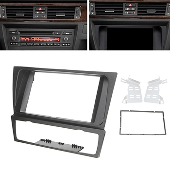 2 Din Radio Fascia Car Double Din Radio Audio Panel Mount Installation Dash Frame Adapter for BMW 3 Series E90/E91/E92/E93 image