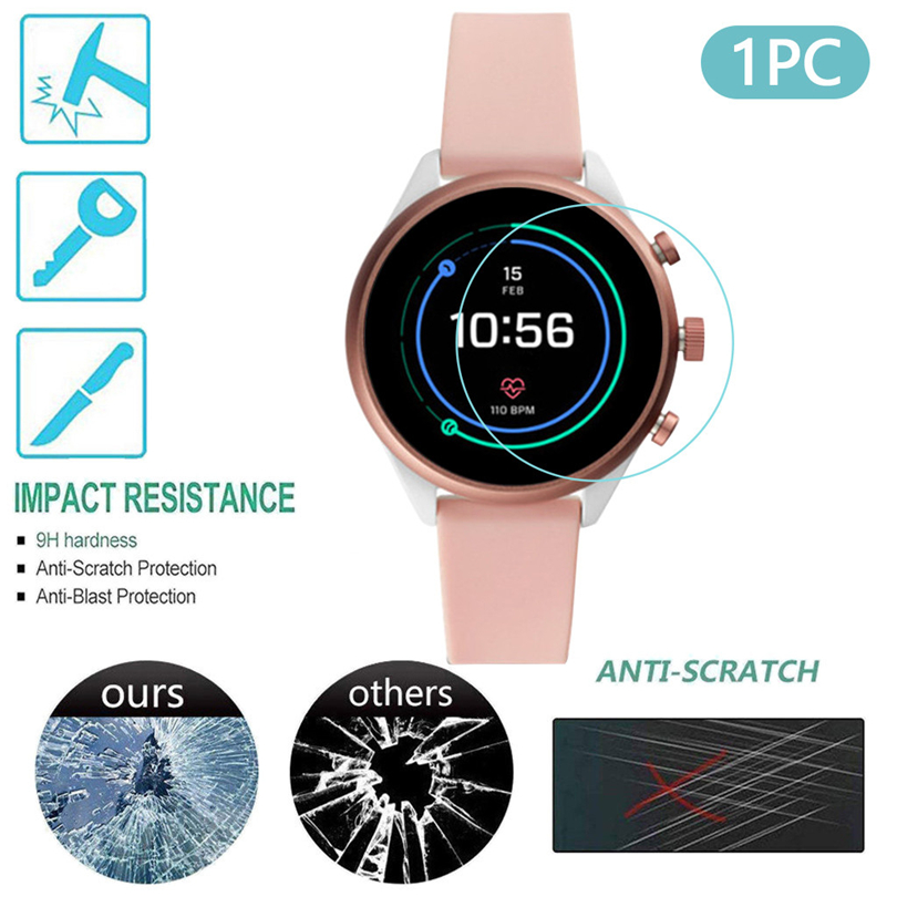 1pc/3pcs /5pcs Clear Film Tempered Glass Screen Protector For Fossil Gen 4 Q Venture HR Smart Watch Accessories Wholesales #4
