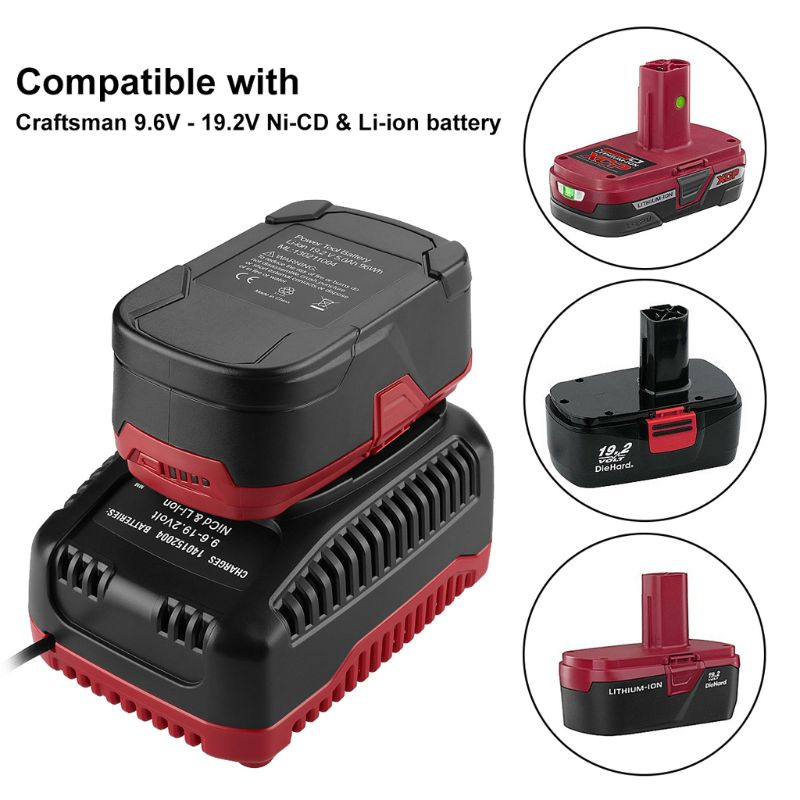 9.6V-19.2V 2A Smart Battery Charger Adapter For Craftsman Ni-CD/Li-ion Batteries