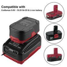 Adattatore per caricabatterie intelligente 9.6V 19.2V 2A per batterie ni cd/Li ion artigiano