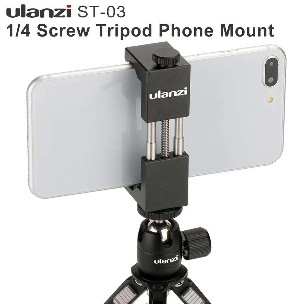 HOMEM de FERRO Alumínio Ulanzi Universal Telefone Mount Holder Suporte Clipe Tripé Adaptador de Montagem para o iphone 7/7 Além Disso Android smartphones