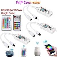 DC5V 12В 24В RGB Led Wifi контроллер RGBW RGBWW Bluetooth WiFi светодиодный контроллер для 5050 2835 WS2811 WS2812B Светодиодная лента Magic Home