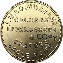 Австралия 1857 1 пенни имитация монеты 34 мм