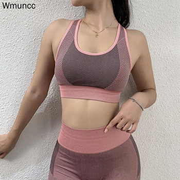 vital seamless sports bra wireless high impact work bra padded push up yoga crop tpp breathable sports wear for women gym Wmuncc Gym Top Women High Impact Sports Bra Padded Push Up Seamless Fitness Bra Yoga Crop Top Brassiere Sportswear Female