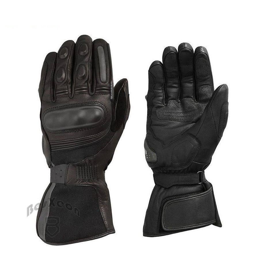 New Black Genuine Leather Summit H2O Motorbike Long Gloves Racing Gloves Driving Gloves Motorcycle GP PRO Cowhide Gloves