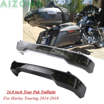 Smoke LED Brake Tail Lamp Tour Pack Taillights For Harley Touring Road Tri Glide Ultra Limited FLHTK Electra Glide Ultra Classic