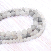 Frosted Cloud Crystal Natural?Stone?Beads?For?Jewelry?Making?Diy?Bracelet?Necklace?4/6/8/10/12?mm?Wholesale?Strand