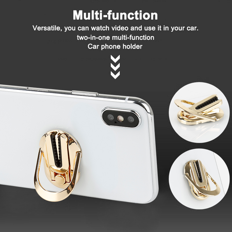 Multi-purpose Car Auto Mobile Phone Bracket Phone Expanding Stand Finger Holder For IPhone XR Samsung Huawei Xiaomi