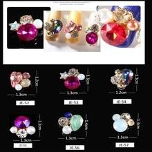 100Pcs Shiny 3D Nail Crystal Rhinestone Strass Gem Stones Drop Pearl Diamond Colorful Charms For Art Supplies Rhinestones #