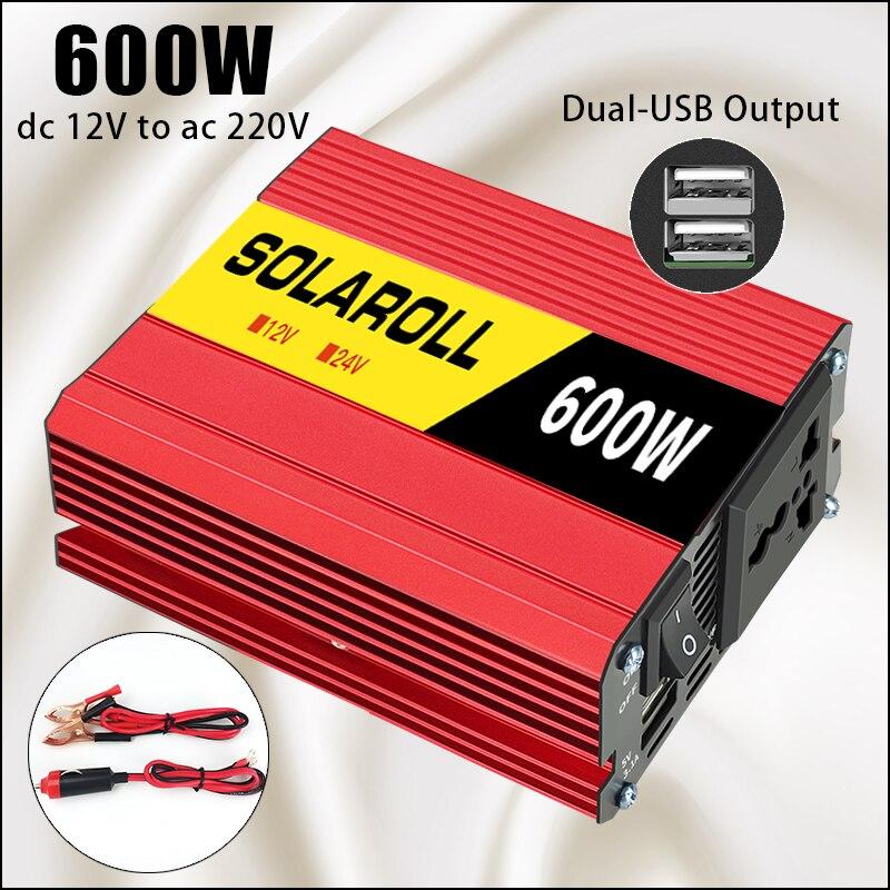600 Вт 1500 Вт 2600 Вт автомобильный инвертор напряжения постоянного тока 12 В в переменный ток 220 В Автомобильное портативное зарядное устройство...