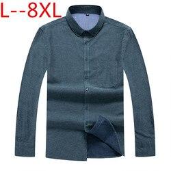 Camisas de negocios de talla grande 8XL 7XL nueva ropa de marca de moda para hombre camisa de trabajo de manga larga Camisa ajustada camisa Casual