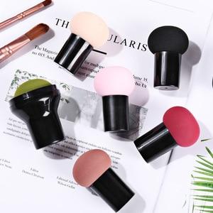 1PC9 Color Beauty Tools Cute Little Mushroom Head Air Cushion Puff BB Cream Puff Dry and Wet Cosmetics Sponge Beauty Tools