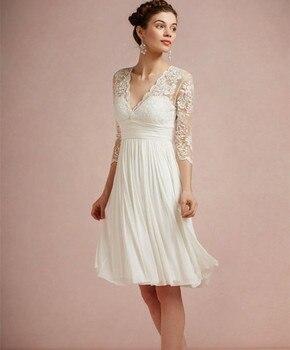 Robe de Mariage Courte Bohème Vintage Candice