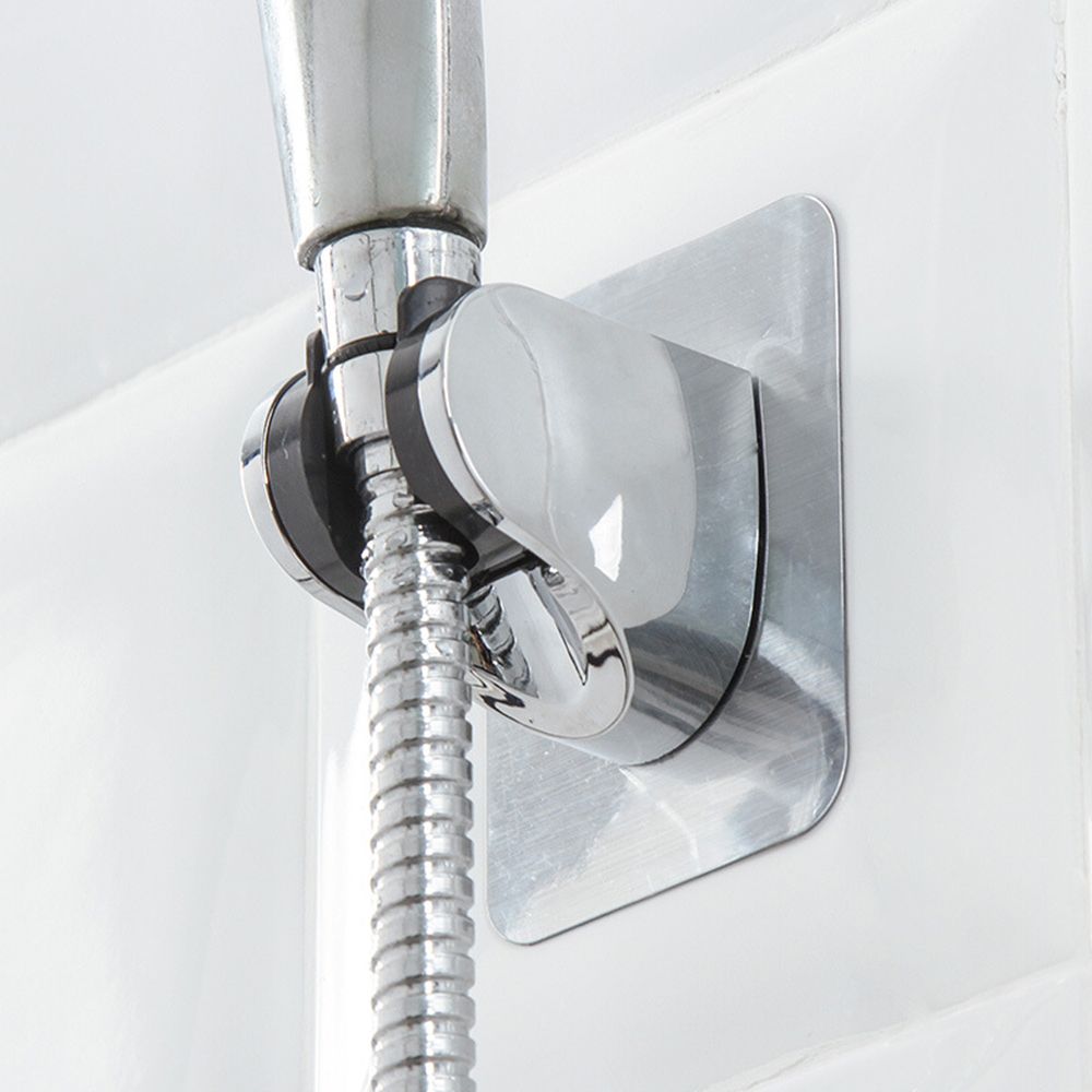 New Adjustable Self-Adhesive Handheld Suction Shower Holder Up Chrome Polished Wall Mounted Bathroom Shower Holder Holder