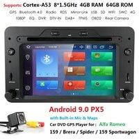 4G 64G 1Din Android 9 Automotivo Radio For Alfa/Romeo/Spider/Brera/159 Sportwagon Car Multimedia player GPS DVD Octa Core DSP Pc