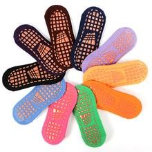 50 пар/лот, большие размеры 42-44, мужские батуты, противоскользящие носки, носки-тапочки из хлопка