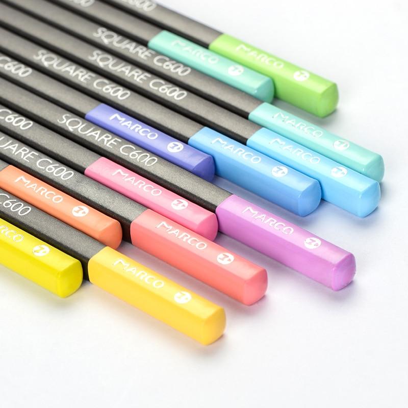 795.97руб. 39% СКИДКА|Andstal Марко 12/24 квадратные пастельные цвета нетоксичный Цвет карандаш lapis de cor Профессиональные цветные карандаши для школы принадлежности|  - AliExpress