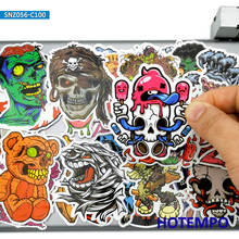 Stickers Pack Decals Skateboard-Pad Skull Moto Laptop-Luggage Mixed-Horror Zombie Dark-Style