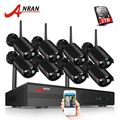 ANRAN 8CH CCTV System Wireless 1080P NVR With 2.0MP Outdoor Waterproof Wifi Security Camera System Night Vision Surveillance Kit